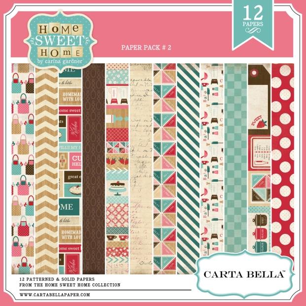 Carta Bella Home Sweet Home Digital Paper Pack 2 available at www.snapclicksupply.com #digitalscrapbooking #snapclicksupply