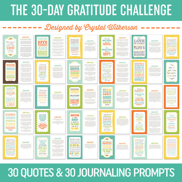 Crystal Wilkerson 30-Day Gratitude Challenge Journaling Cards available at www.snapclicksupply.com #digitalscrapbooking #thanksgiving