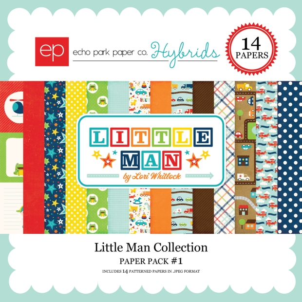 Echo Park Hybrids Little Man Paper Pack available at www.snapclicksupply.com #digitalscrapbooking #echoparkpaper