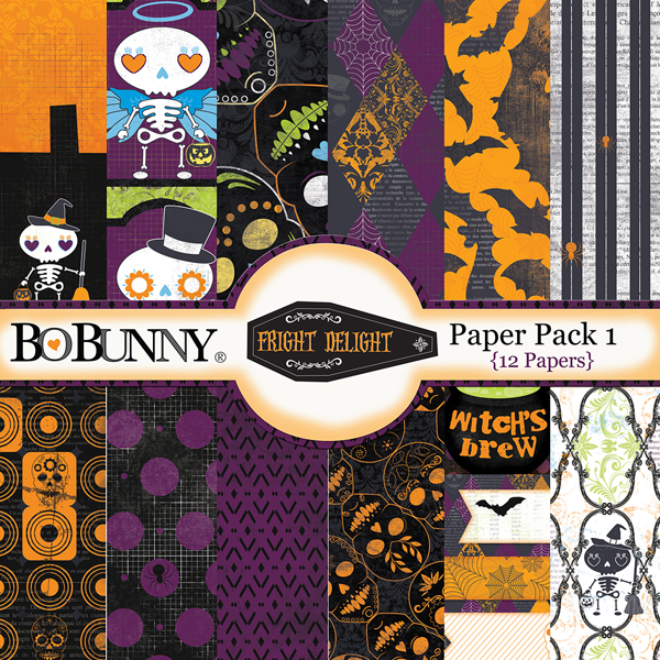 Fright Delight Paper Pack by Bo Bunny available at www.snapclicksupply.com #digitalscrapbooking #halloween