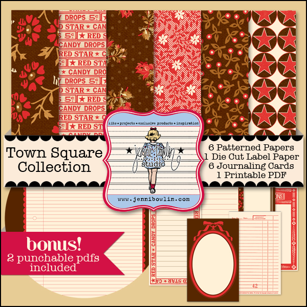 Jenni Bowlin Studio Town Square Paper Pack available at www.snapclicksupply.com #digitalscrapbooking #snapclicksupply