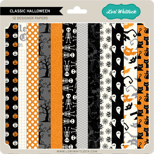 Lori Whitlock Classic Halloween Paper Pack available at www.snapclicksupply.com #snapclicksupply #halloween