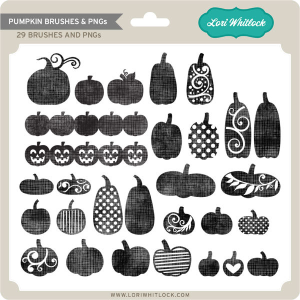Lori Whitlock Pumpkin Brushes and PNGS available at www.snapclicksupply.com #digitalscrapbooking #halloween