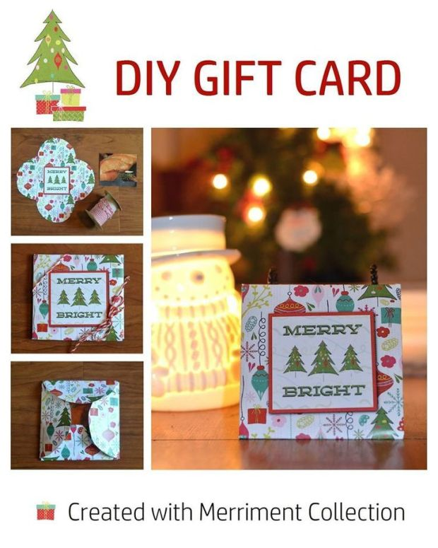 Gift Card Holder made by designer Terresa Burnham using the Merriment digital kit by Mye De Leon available at www.snapclicksupply.com #digitalscrapbooking #christmas #holidays