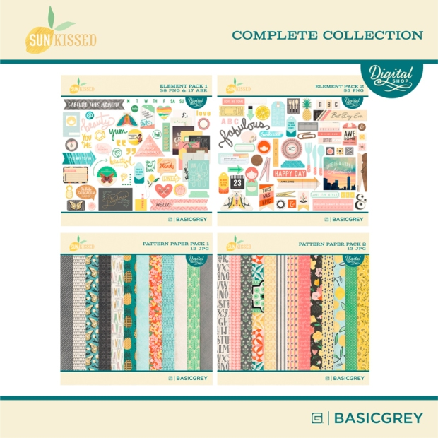 Basic Grey Sun Kissed digital complete collection available at www.snapclicksupply.com #snapclicksupply #digitalscrapbooking