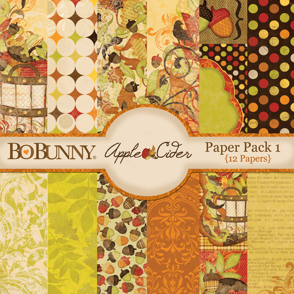 Bo Bunny Apple Cider Paper Pack available at www.snapclicksupply.com #digitalscrapbooking #fall #thanksgiving
