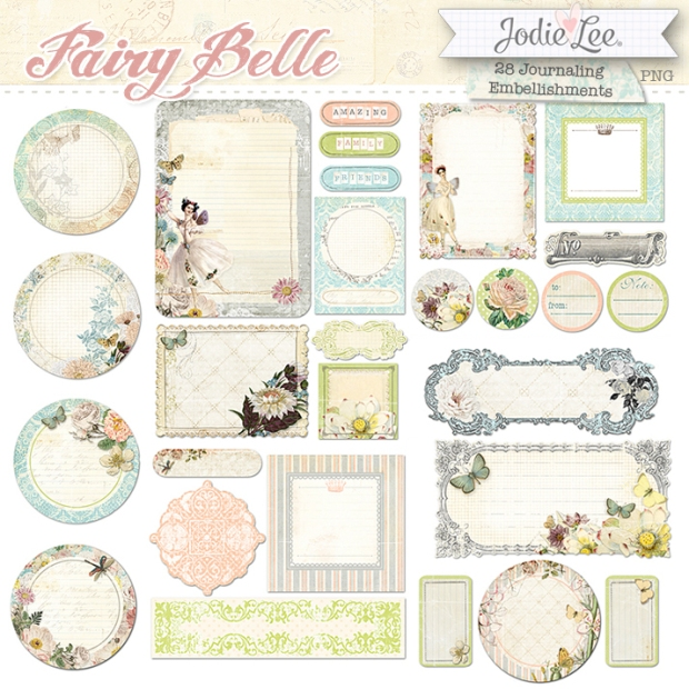 Jodie Lee Fairy Belle Embellishments available at www.snapclicksupply.com #digitalscrapbooking #snapclicksupply