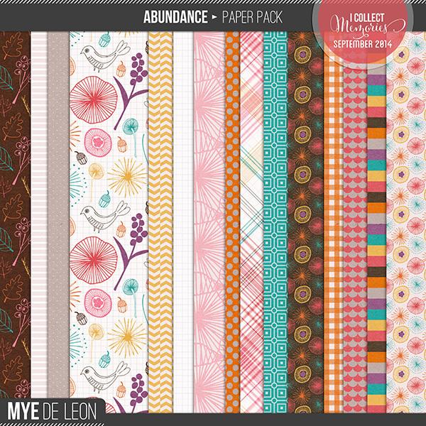 Mye De Leon Abundance Patterned Papers