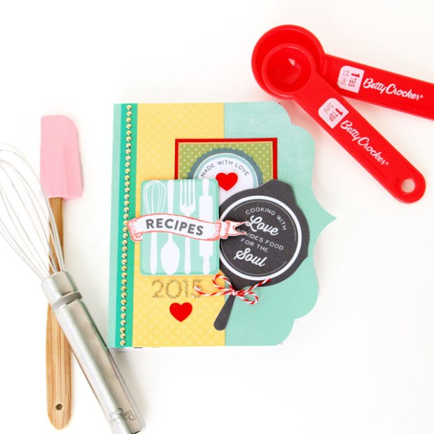Mini Recipe Book by Candice Meyer featuring the Echo Park Paper Made From Scratch digital collection available at www.snapclicksupply.com #digitalscrapbooking #snapclicksupply #minibook #DIYrecipebook