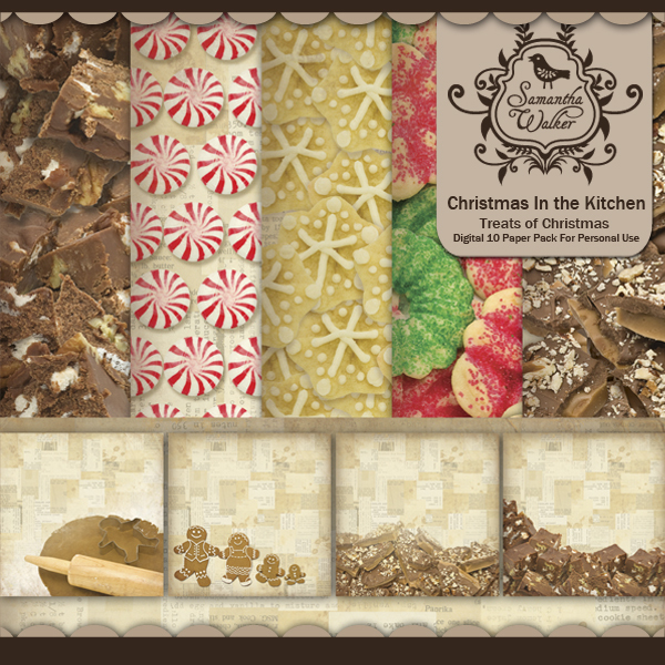 Samantha Walker Christmas In The Kitchen Baking Paper Kit