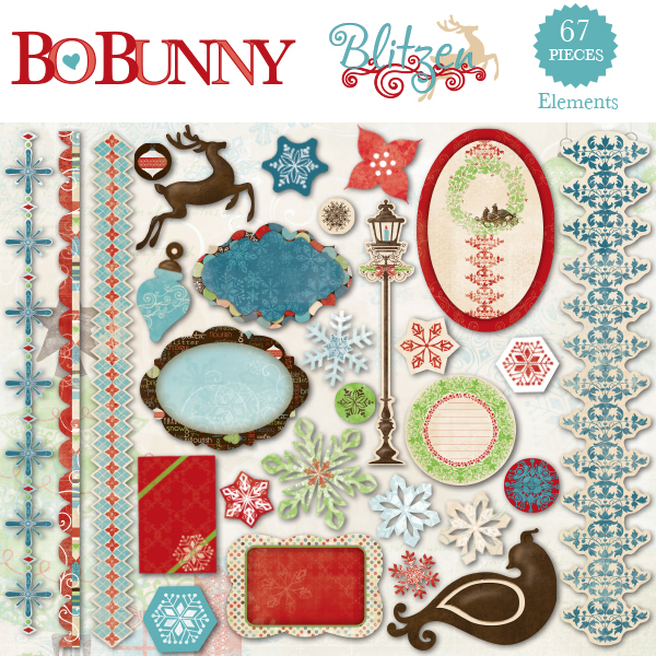 Bo Bunny Blitzen Element Pack available at www.snapclicksupply.com #digitalscrapbooking #snapclicksupply