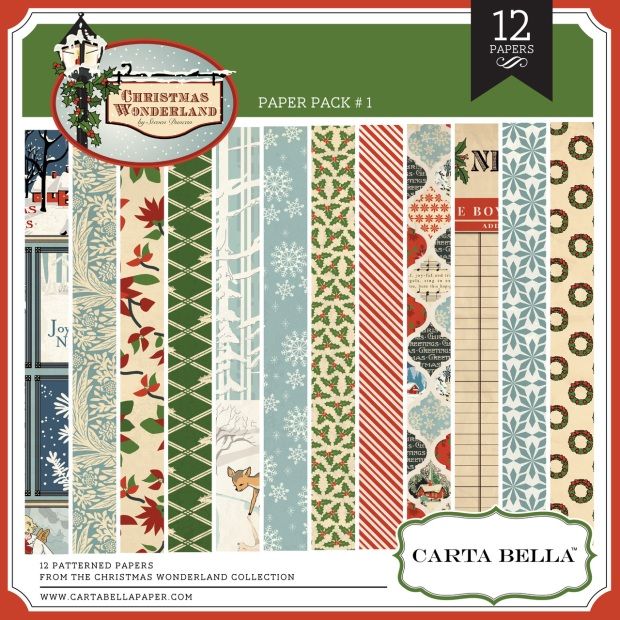 Carta Bella Christmas Wonderland Paper Pack available at www.snapclicksupply.com #digitalscrapbooking #christmas
