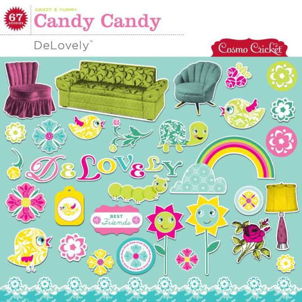 Cosmo Cricket Delovely Embellishment Pack available at www.snapclicksupply.com #digitalscrapbooking #snapclicksupply