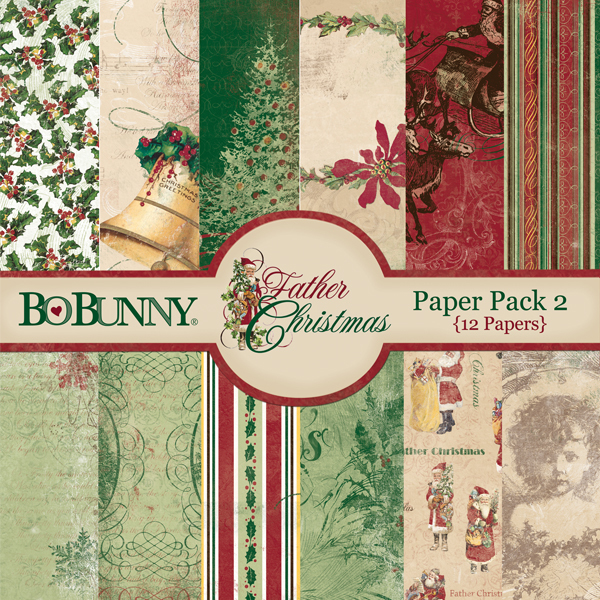 Father Christmas Paper Pack by Bo Bunny available at www.snapclicksupply.com #digitalscrapbooking #christmas