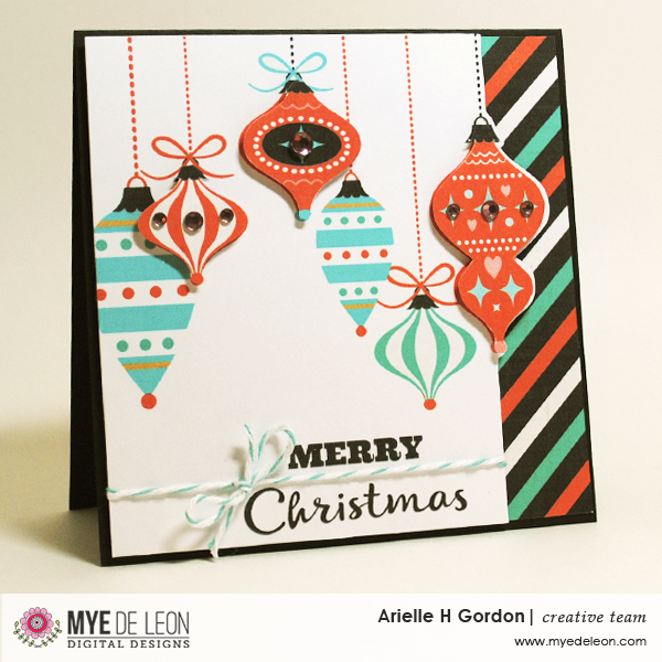 Mye De Leon Memories of Christmas hybrid card by designer Arielle Gordon
