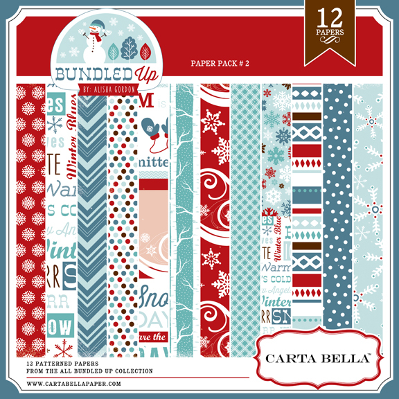 Carta Bella All Bundled Up Paper Pack 2 available at www.snapclicksupply.com #digitalscrapbooking #winter