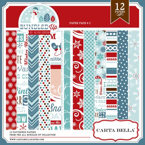 Carta Bella All Bundled Up Paper Pack 2 available at www.snapclicksupply.com #digitalscrapbooking #winter