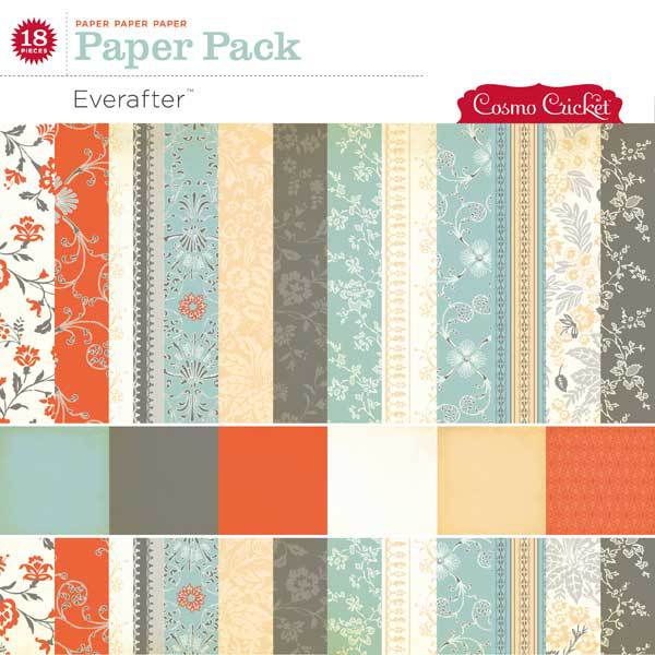 Cosmo Cricket Everafter Paper Pack available at www.snapclicksupply.com #digitalscrapbooking #snapclicksupply