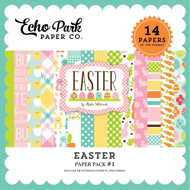 Echo Park Easter Paper Pack available at www.snapclicksupply.com #digitalscrapbooking