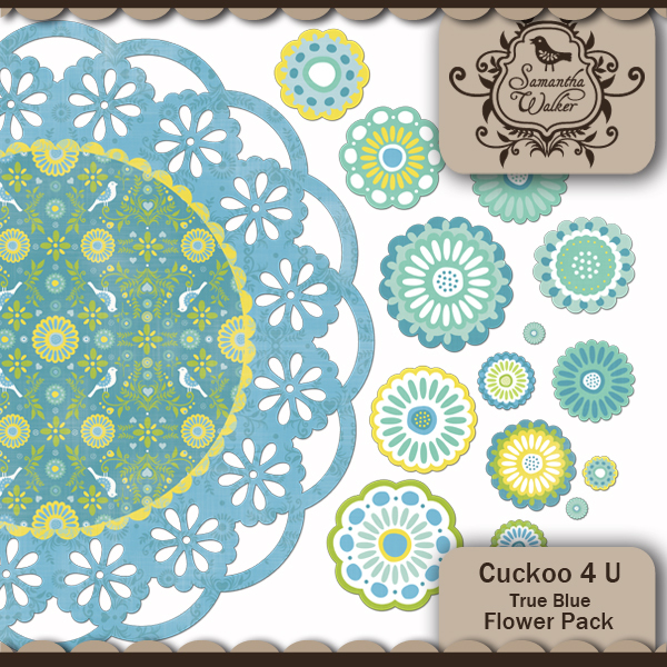 Samantha Walker Cuckoo 4 U Flower Pack available at www.snapclicksupply.com #spring #digitalscrapbooking